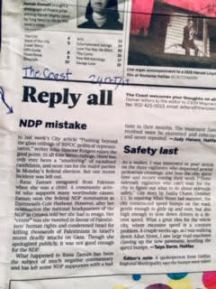 NDP-letter